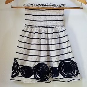 Maurices navy and white stripe cotton tube top